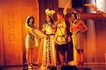 Jako egyptská královna Kleopatra s Marcem Antoniem (Z. Fric)